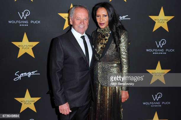 Chef Wolfgang Puck and Gelila Assefa Puck attend a Celebrationin honor of Wolfgang Puck receiving a star on The Hollywood Walk of Fame hosted by...