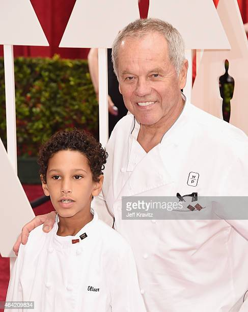 Chef Wolfgang Puck and Oliver Puck attend the 87th Annual Academy Awards at Hollywood Highland Center on February 22 2015 in Hollywood California