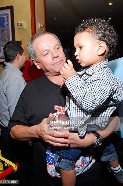 Chef Wolfgang Puck and son Oliver attend the Super Bowl Bash at Spago at Wolfgang Puck's Spago restaurant February 4 2007 in Beverly Hills California