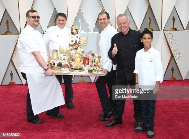 Chef Wolfgang Puck and son Oliver Puck arrive at the 89th Annual Academy Awards at Hollywood Highland Center on February 26 2017 in Hollywood...