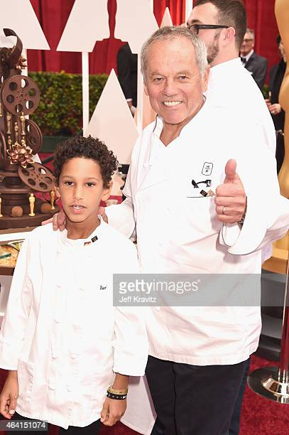 Chef Wolfgang Puck and son Oliver Puck attend the 87th Annual Academy Awards at Hollywood Highland Center on February 22 2015 in Hollywood California