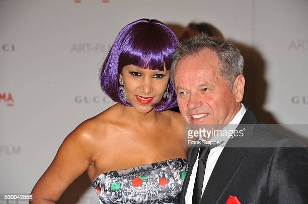 Chef Wolfgang Puck and wife arrive at the LACMA Art Film Gala Honoring Clint Eastwood and John Baldessari held at the Los Angeles County Museum of Art