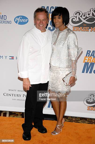 Chef Wolfgang Puck and wife Gelila Assefa arrive at the 16th Annual Race to Erase MS event themed Rock To Erase MS cochaired by Nancy Davis and Tommy...