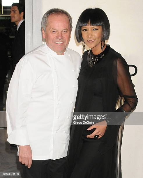 Chef Wolfgang Puck and wife Gelila Assefa arrive at the Opening of the Tom Ford Beverly Hills Store on February 24, 2011 in Beverly Hills, California.