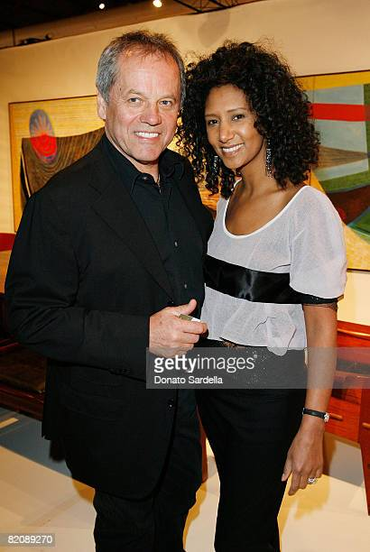 Chef Wolfgang Puck and wife Gelila Assefa attend the Opening Night Preview Party for the Los Angeles Antiques Show on April 23 2008 in Santa Monica...