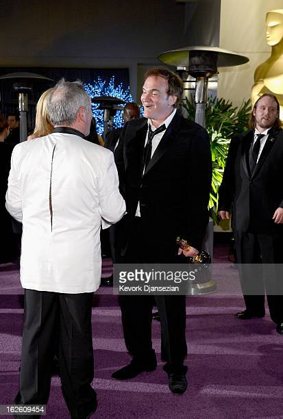 Chef Wolfgang Puck and writerdirector Quentin Tarantino winner of the Best Original Screenplay award for 'Django Unchained' attend the Oscars...