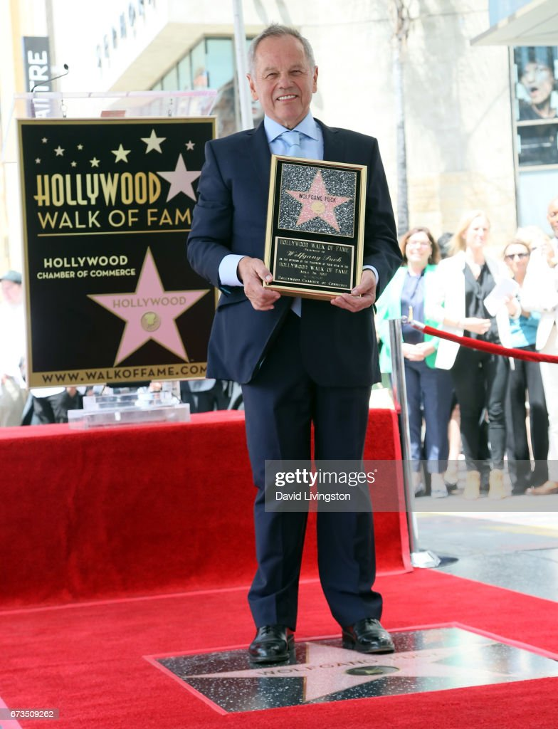 Wolfgang Puck Honored With Star On The Hollywood Walk Of Fame