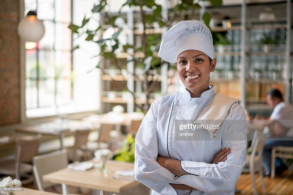 Chef working at a restaurant : Stock Photo