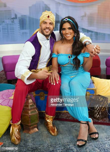 Chef Yisus and Francisca Lachapel are seen on the set of Despierta America at Univision Studios to promote the film Aladdin on May 23 2019 in Miami...