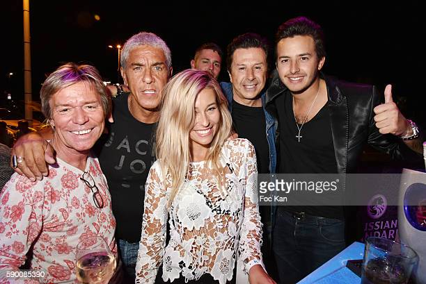 Chef Yvan Zaplatilek actor Sami Naceri barmaid Lilou Vincent Martin Founder of Tsar Folie's Club and his son Antoine Martin attend the the the Tsar...