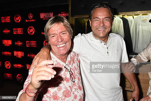 Chef Yvan Zaplatilek and a guest attend the VIP Room Saint Tropez Party on August 15 2016 in SaintTropez France