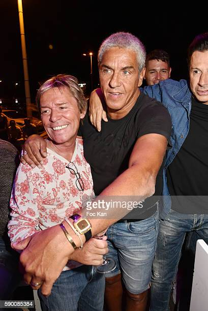Chef Yvan Zaplatilek and actor Sami Naceri attend the the the Tsar Folie's Club Saint Tropez Party on August 15 2016 in SaintTropez France