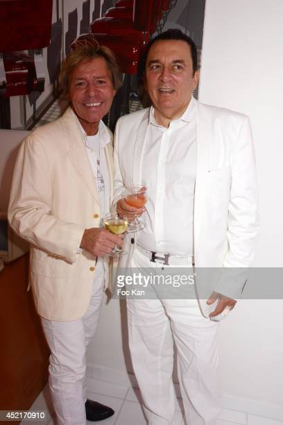 Chef Yvan Zaplatilek and Pierre Guillermo attend the White Party 2014 hosted by Pierre Guillermo at 42 Quai President Kennedy on July 14 2014 in...