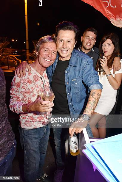 Chef Yvan Zaplatilek and Vincent Martin Founder of Tsar FolieÕs Club attend the the the Tsar FolieÕs Club Saint Tropez Party on August 15 2016 in...