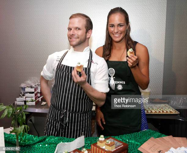 Chef Zac Young and tennis player Mónica Puig attend Taste Of Tennis Week Taste Of Tennis Gala at the W New York on August 21 2014 in New York City