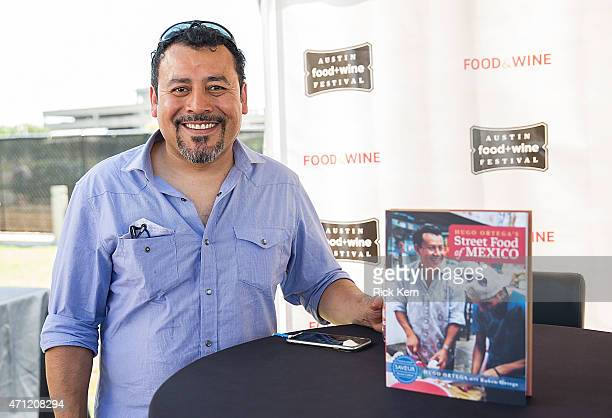 Chef/author Hugo Ortega poses during the fourth annual Austin FOOD WINE Festival at Auditorium Shores on April 25 2015 in Austin Texas