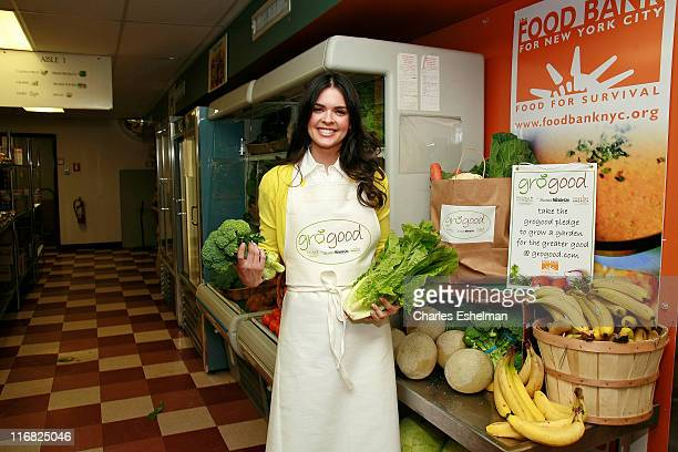 Chef/Author Katie Lee Joel attends the kickoff of the National GroGood campaign at the food bank for New York City's Community Kitchen of West Harlem...