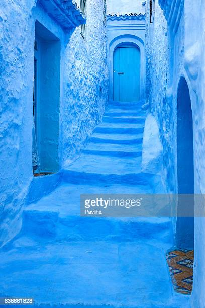 Chefchaouen blue street,Morocco,North Africa