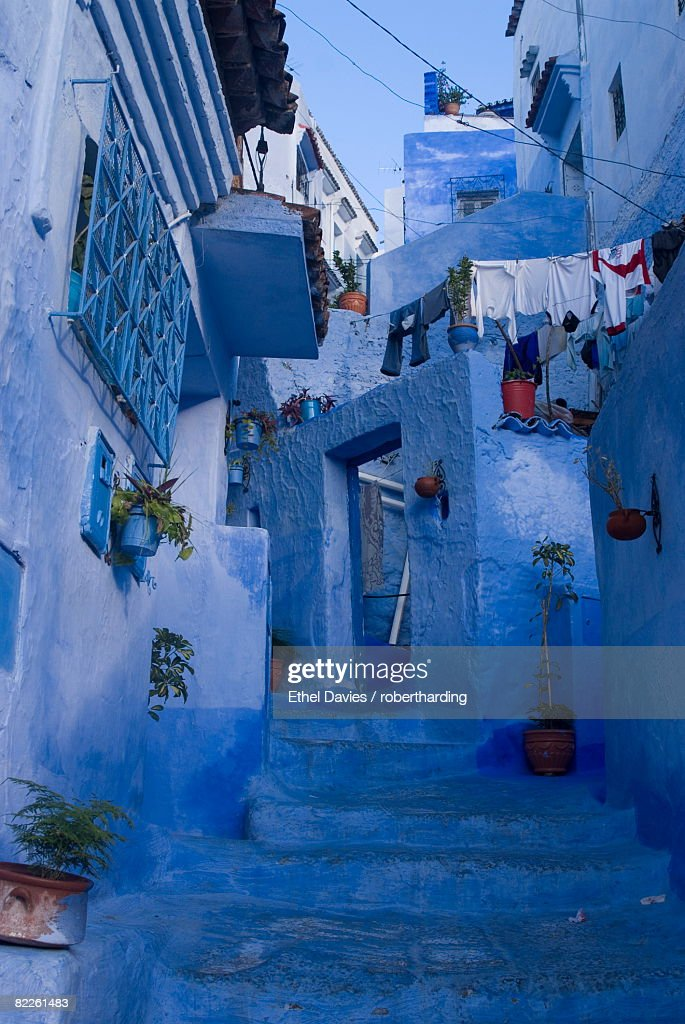 Chefchaouen, near the Rif Mountains, Morocco, North Africa, Africa : Stock Photo
