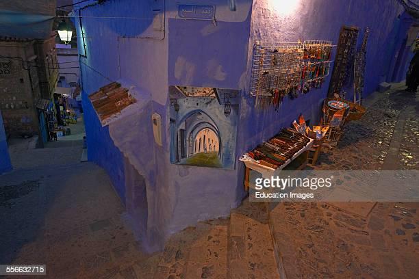Chefchaouen Xaouen Medina Rif region Morocco North Africa