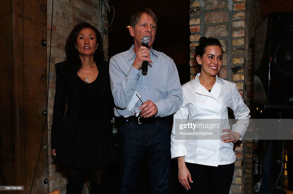 ChefDance founders Mimi Kim and Kenny Griswold and Masterchef Whitney Miller speak onstage during Night 1 of ChefDance on January 18, 2013 in Park City, Utah.
