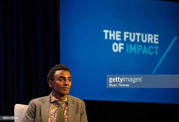 ChefOwner of Red Rooster Harlem Marcus Samuelsson participates on a panel during the Clinton Global Initiative Annual Meeting at the Sheraton Hotel...