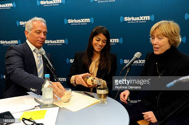 Chef/restaurateur Geoffrey Zakarian Margaret Anne Williams and Brooke Johnson attend the Food Talk on Sirius XM at SiriusXM Studios on October 18...