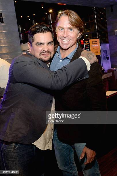 Chefs Aaron Sanchez and John Besh attend Tacos Tequila presented by Mexico hosted by Aaron Sanchez during Food Network Cooking Channel New York City...
