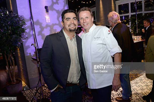 Chefs Aaron Sanchez and Marc Murphy attend Tacos & Tequila presented by Mexico hosted by Aaron Sanchez during Food Network & Cooking Channel New York...