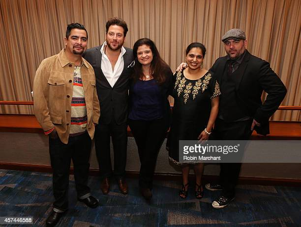 Chefs Aaron Sanchez Scott Conant Alex Guarnaschelli Maneet Chauhan and Chris Santos attend CHOPPED Best Bloody Mary Brunch Perfected By ABSOLUT...