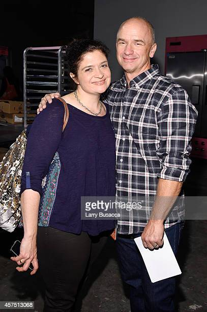 Chefs Alex Guarnaschelli and Devin Padgett pose backstage at the Grand Tasting presented by ShopRite featuring KitchenAid® culinary demonstrations...