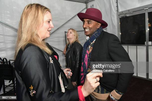 Chefs Amanda Freitag and Marcus Samuelsson attend The Food Network & Cooking Channel New York City Wine & Food Festival Presented By Coca-Cola -...