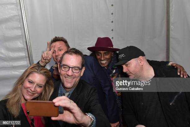 Chefs Amanda Freitag, Marc Murphy, Ted Allen, Marcus Samuelsson and Chris Santos attend The Food Network & Cooking Channel New York City Wine & Food...