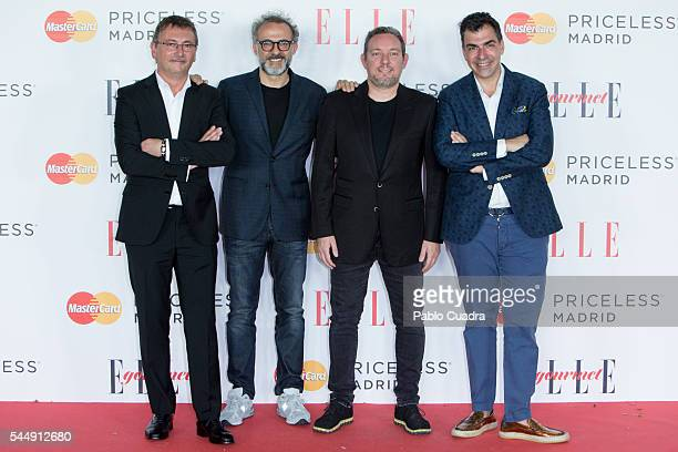 Chefs Andoni Luis Aduriz and Ramon Freixa attend 'Elle Gourmet' Awards 2016 party at the Italian Embassy on July 4 2016 in Madrid Spain