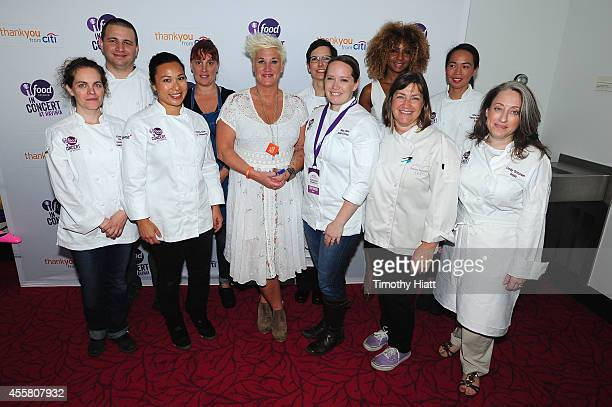 Chefs Anne Burrell and Sunny Anderson attend Food Network In Concert on September 20 2014 in Chicago Illinois