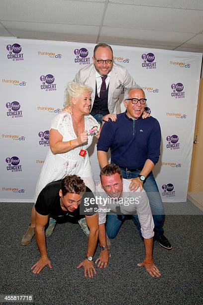 Chefs Anne Burrell Geoffrey Zakarian Marc Murphy and Jeff Mauro attend Food Network In Concert on September 20 2014 in Chicago United States