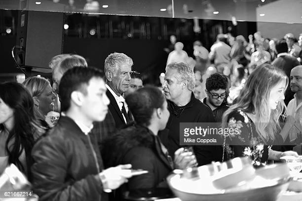 Chefs Anthony Bourdain and Eric Ripert attend a screening of 'Anthony Bourdain Parts Unknown Japan with Masa' at Samsung 837 on November 7 2016 in...
