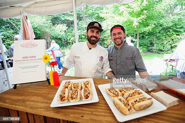 Chefs Anthony Fourkas and Anastasio Fourkas attend Food Network in Concert on September 20 2014 in Chicago United States