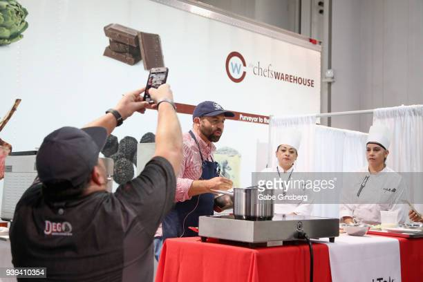 Chefs Brian Duffy and Nick Liberato attend day three of the 33rd annual Nightclub Bar Convention and Trade Show on March 28 2018 in Las Vegas Nevada