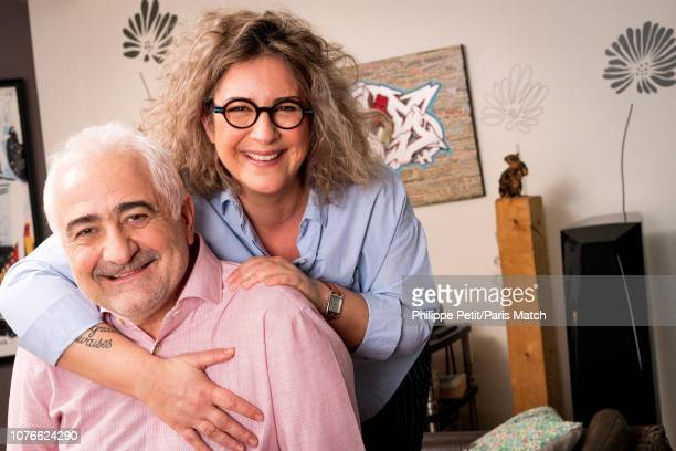 Chefs Caroline Savoy and her father Guy Savoy at her home are photographed for Paris Match on December 17 2018 in Paris France