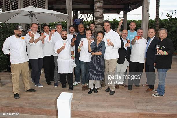 Chefs Cesar Vega Andrew Carmellini Michele Mazza Nunzio Fuschillo Timon Balloo Paula DaSilva Patricia Yeo Kerry Heffernan and Dustin Ward attend...