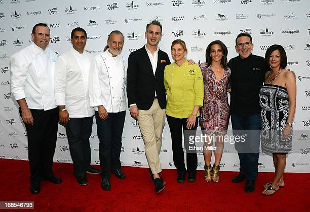 Chefs Charlie Palmer Michael Mina and Hubert Keller EditorinChief of Bon Appetit magazine Adam Rapoport chef Mary Sue Milliken Vice President and...