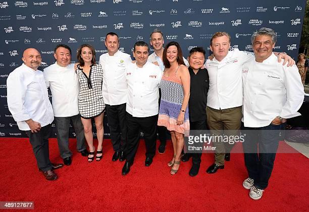 Chefs Christopher Christie and Tetsuya Waaku Vice President and Publisher of Bon Appetit magazine Pamela Drucker Mann chefs Olivier Dubreuil and...