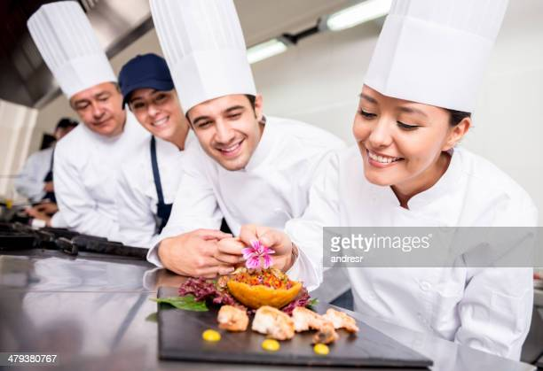 Chefs cooking at a restaurant