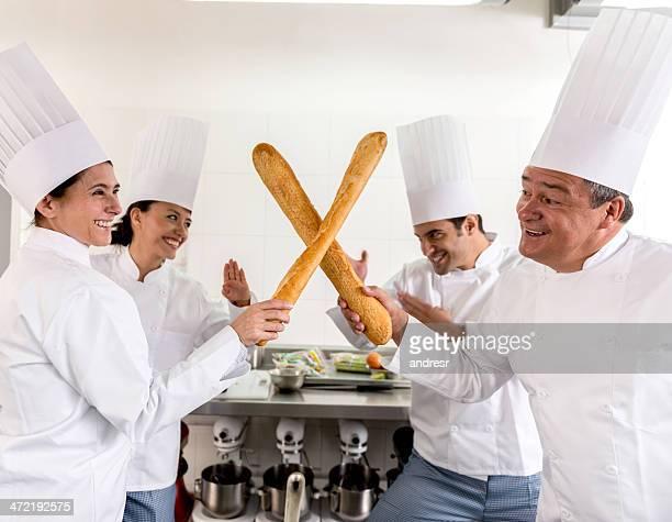 Chefs fighting