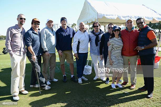 Chefs Gabriel Fenton Jeremy Sewall Ming Tsai Andrew Zimmern Jose Andres and guestsattend the Montage Hotels Resorts' 9Hole Celebrity Chef Golf...