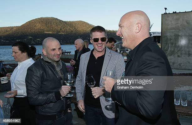Chefs George Calombaris Heston Blumenthal and Matt Moran attend the first chapter of Invite The World To Dinner Gala event at GASP on November 14...