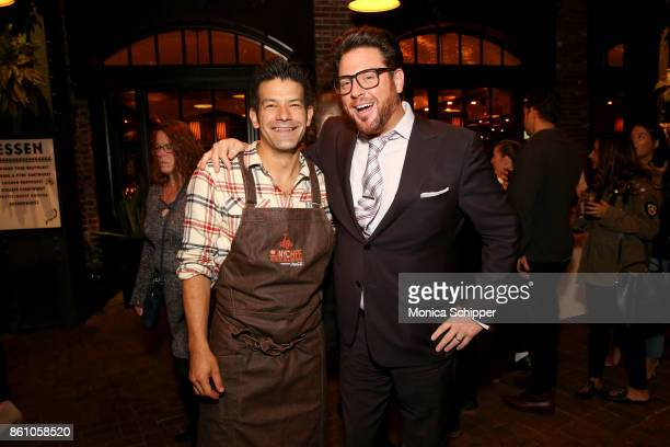 Chefs George mendes and Scott Conant attend Aperitivo hosted by Scott Conant at The Standard High Line on October 13 2017 in New York City