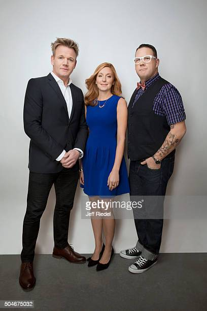 Chefs Gordon Ramsay Christina Tosi and Graham Elliott are photographed for TV Guide Magazine on January 17 2015 in Pasadena California