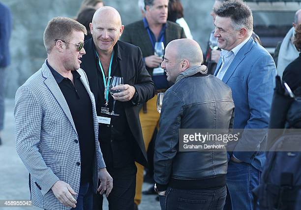 Chefs Heston Blumenthal Matt Moran and George Calombaris attend the first chapter of Invite The World To Dinner Gala event at GASP on November 14...